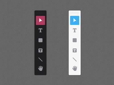 Light and Dark Themes flat interface tools drawing light dark