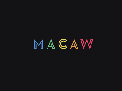 macaw logotype macaw rainbow logo logotype bright vivid