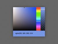 minimal chrome color picker