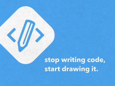 stop writing code code draw pencil blue
