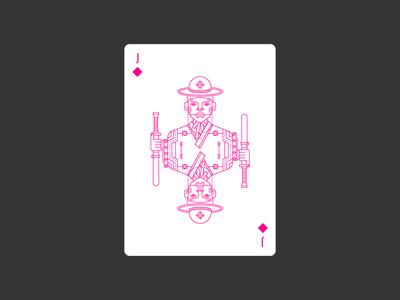 Jack of Diamonds civilization playing card icon graphic design korea deck diamonds jack lineart illustration poker playing card