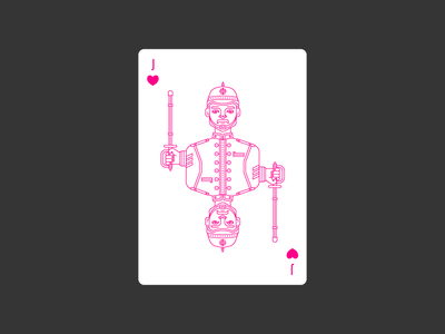 Jack of Hearts civilization playing card icon graphic design england deck hearts jack lineart illustration poker playing card