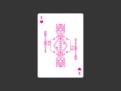 King of Hearts hearts king england lineart icon illustration poker deck playing card civilization playing card