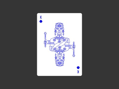 King of Spades spades king africa lineart icon illustration poker deck playing card civilization playing card