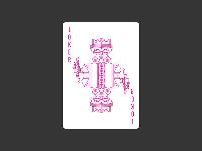 Joker 2 diamonds jester clown joker lineart icon illustration poker deck playing card civilization playing card