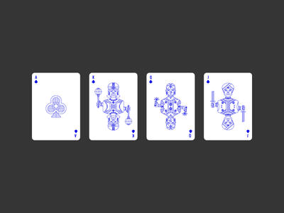 Clubs civilization playing card icon graphic design india deck clubs lineart illustration poker playing card