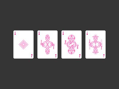 Diamonds civilization playing card icon graphic design korea deck diamonds lineart illustration poker playing card