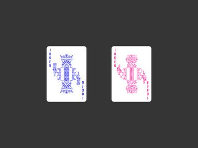 Jokers jester joker illustrator civilization playing card lineart playing card poker deck graphic design icon illustration
