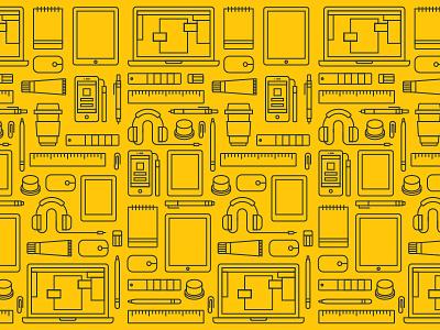 Portfolio background image vecter essential outlined graphic design icon illustration