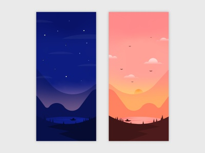 Mobile Wallpaper wallpapers mobile background landscape illustration mobile graphic design illustration