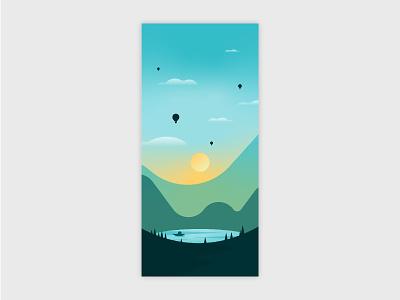 Mobile Wallpaper 2 wallpapers mobile wallpaper landscape illustration landscape vector graphic design illustration