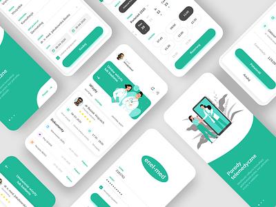 Enel-Med App Redesign Concept ⚕️💚 medical reservations booking health people mobile ilustration flat ux ui app ui app healthcare