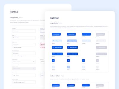 Digital Marketing Platform - Design System fragment design influencer platform marketing digital button input components design system dashboard ui