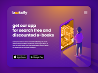 booksify - landing for app