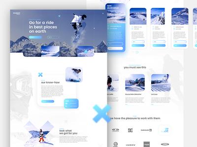 Snowboard Freaks snowboard winter website webpage webdesign web ui landing