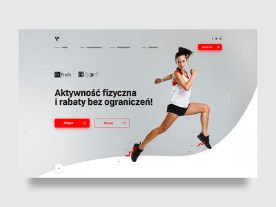 Simple header - Incentive programs for employees header employees programs sports ui web webdesign landing website design