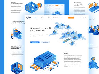 Qlink Landing Page isometric design isometric illustration isometric vector gradient web webdesign landing illustration website people ui design