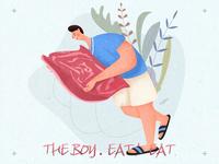 人物练习-eat meat!