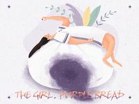 紫薯包上的女孩