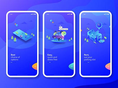 Parklike App Design design app work-in progress creative design ux ui car parking app