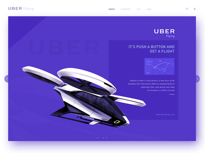 Uber Flying Home Page