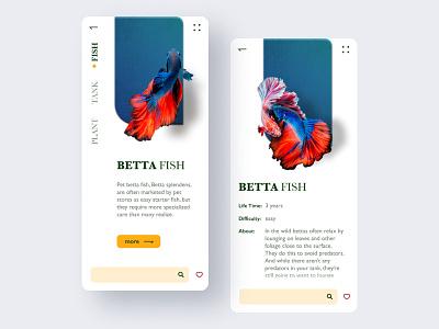 Aquarium App Concept dailyui aquarium photo app business app development for mobile creative mobile app design apps for android clean app design application design ux ui design opengeekslab aquarium