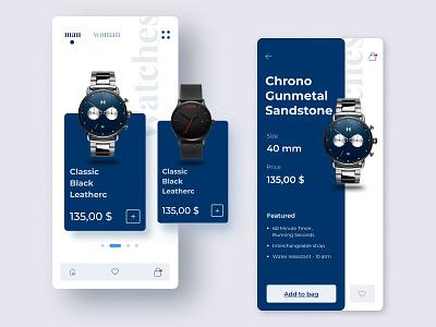 Watch_shop branding clean business application design app design ui design dribbbling opengeekslab