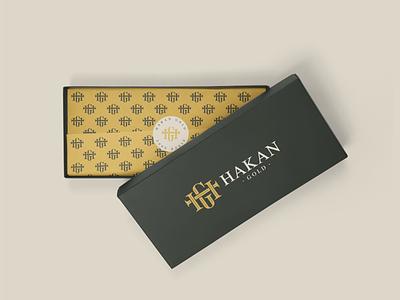 Hakan Gold - Logo Design logo logodesign pattern green mockup gift jewellery gold box digital new brkckroglu creative design art