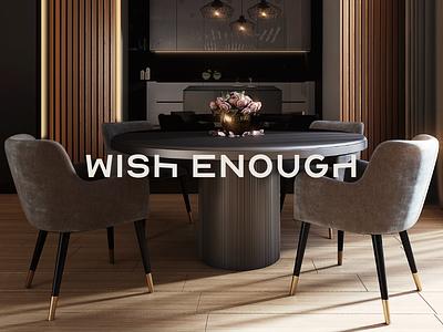 WISH ENOUGH - Logo Design global concept logotype freelancer graphicdesign artist furniture chair illustration drawing new brkckroglu creative design art