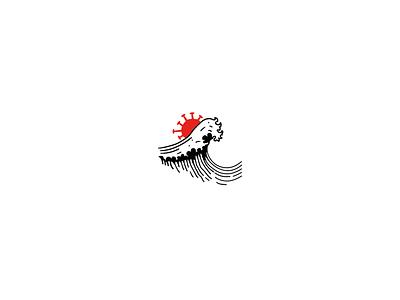 Second Wave illistrator red two wave corona vector illustration turkey digital drawing new brkckroglu creative design art