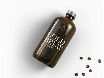 Neşve - Cold Brew mockup bottle ice corporate concept neşe labeldesign turkey brown coffee coldbrew digital new brkckroglu creative design art
