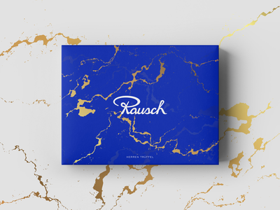 Rausch - Packaging Design mockup gold agency freelance berlin blue chocolate rauch packagedesign box drawing digital new brkckroglu creative design art
