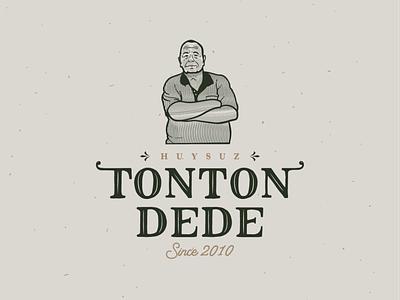 Huysuz Tonton Dede - Logo Design freelancer wacom chef grandfather agency portrait illustration portrait artist vintage vintage logo building illustration turkey drawing digital new design creative brkckroglu art