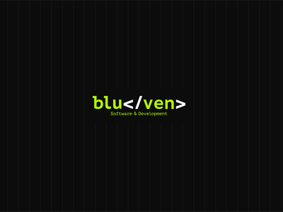 bluven - Logo Design blue development software green logodesign application digital new brkckroglu drawing creative design art