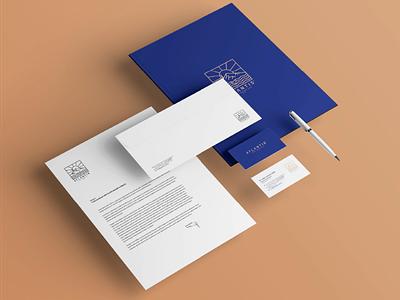 ATLANTIS - Pre Corporate montain water pencil blue building turkey logodesign digital drawing new brkckroglu creative design art