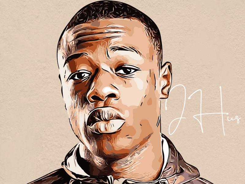 J Hus Artwork hip hop afrobeats uk rapper musician music art music grime design cartoon artwork artist album cover design album cover album artwork album art album j hus