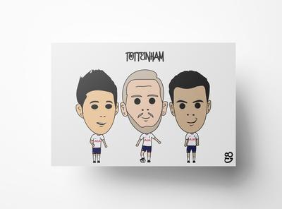 Tottenham FC Print. Tottenham FC Poster.