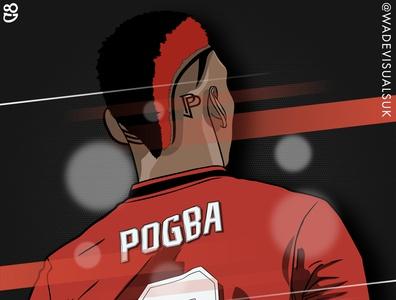 Pogba Illustration. Manchester United