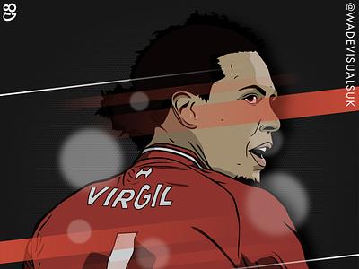 Virgil Van Dijk Illustration. Liverpool FC cartoon virgil van dijk derby liverpoolfc liverpool football premier league soccer illustration illustrator sports