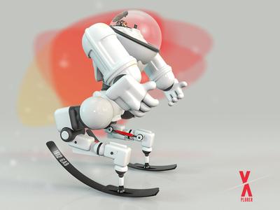 X · Plorer londonagency london render 3d cinema4d illustration visuals c4d digitalart design characterdesign