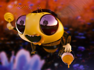 Be like a Bee... belikeabee bee london-agency arnold render zbrush guille-amengual concept-art character-design character visuals design cinema4d render londonagency london characterdesign digitalart c4d illustration 3d