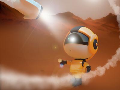 AstroBoy_MyRedPlanet logo guille-amengual visuals londonagency cinema4d digitalart illustration 3d
