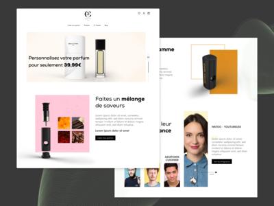 Maison21g perfumery - Homepage concept
