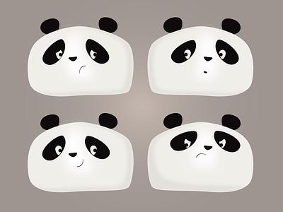 Panda Faces expression fun cute animal animal bear angry happy sad illustration face pandas panda