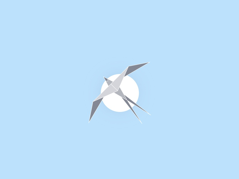 Flying Bird Unused Logo sky blue sky west wings sun moon swallow flying bird logo design logo illustration vector illustrator animal