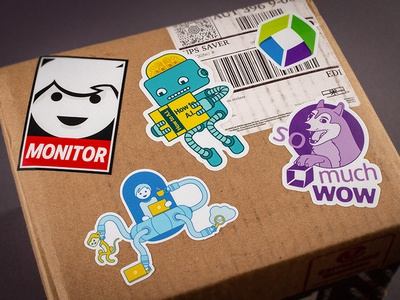 Stickerbox dog cloud monkey intelligence artificial ai robot doge wow ufo sticker monitor
