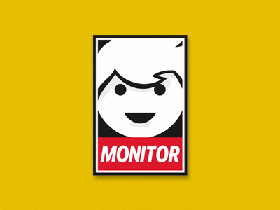 Monitor simple illustration automated ai dynatrace monitor sticker