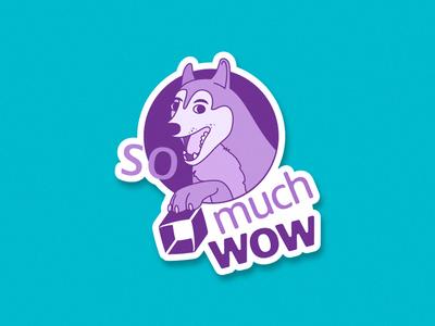 So much wow! meme illustration sticker dog