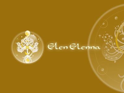 Elen Elenna logo logo logoart femininedesign mystical logodesign sacred spiritual logo tree logo cosmic ethereal tree of life