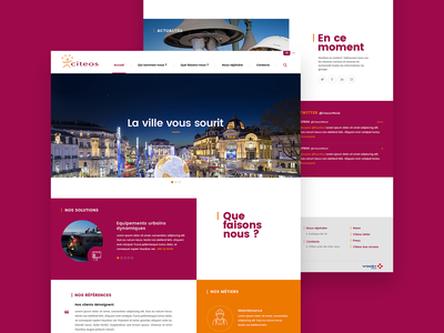 Citeos (Groupe Vinci) citeos vinci public lighting photoshop webdesign ui ux